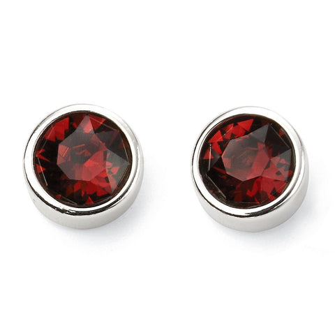 Birthstone Earrings-January Garnet