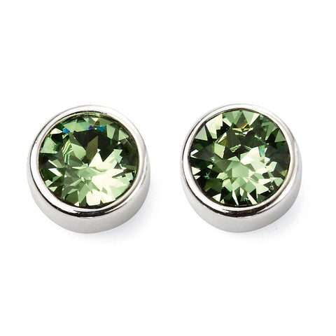 Birthstone Earrings-August Peridot