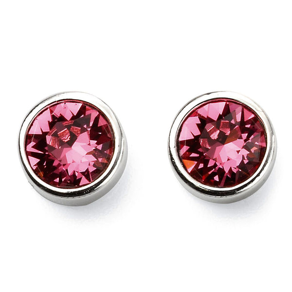 Birthstone Earrings-October Rose Tourmaline from the Earrings collection at Argenteus Jewellery