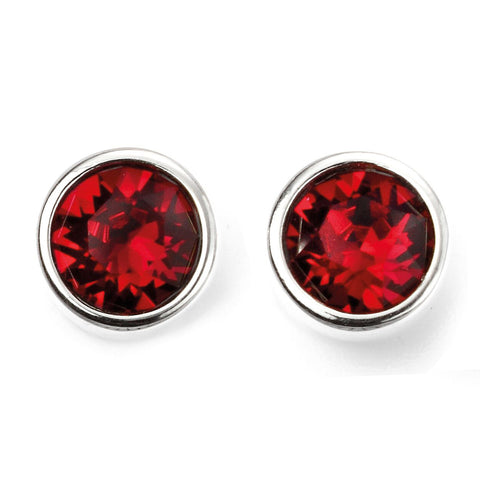 Birthstone Earrings-July Ruby