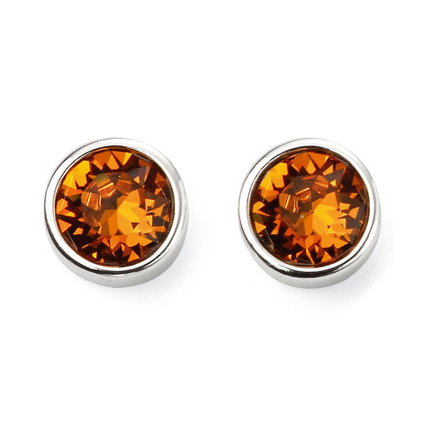 Birthstone Earrings-November Orange Topaz from the Earrings collection at Argenteus Jewellery