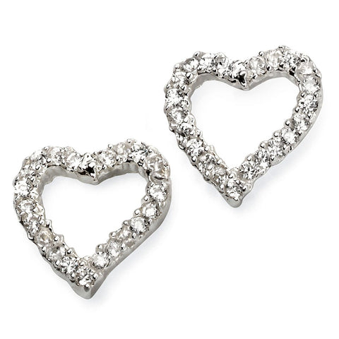 Cubic Zirconia Heart Stud Earrings from the Earrings collection at Argenteus Jewellery