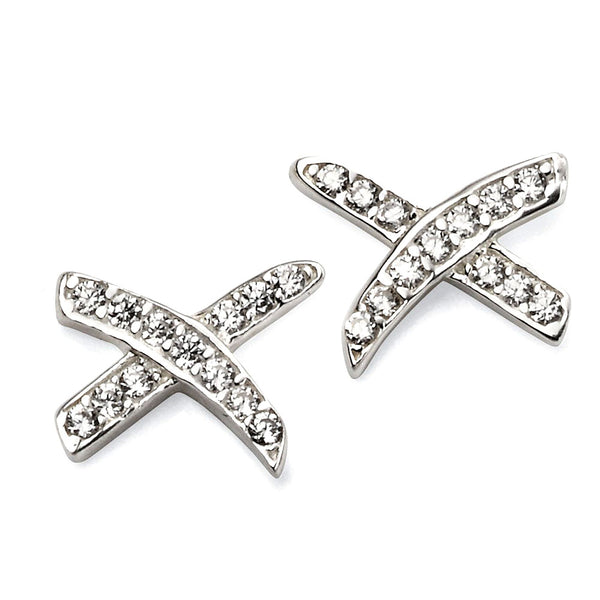 Cubic Zirconia Kisses Stud Earrings from the Earrings collection at Argenteus Jewellery