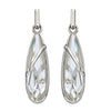 Raindrop Swarovski Silver Shimmer Earrings