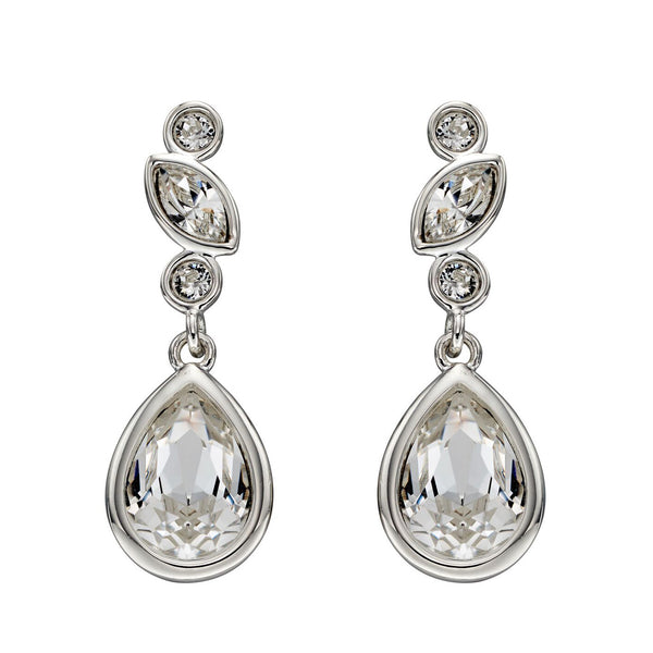 Clear Crystal Teardrop Earrings from the Earrings collection at Argenteus Jewellery