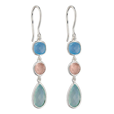 Chalcedony Mix Earrings from the Earrings collection at Argenteus Jewellery