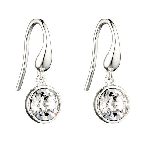 White Lights Crystal Drop Earrings from the Earrings collection at Argenteus Jewellery