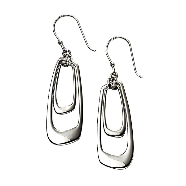 Abstract Drop Earrings from the Earrings collection at Argenteus Jewellery
