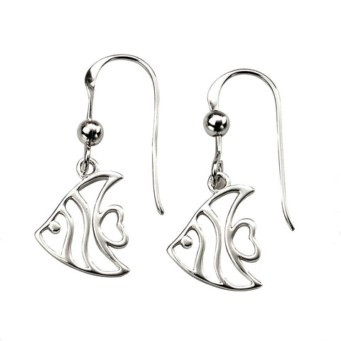 Angel Fish Drop Earrings from the Earrings collection at Argenteus Jewellery