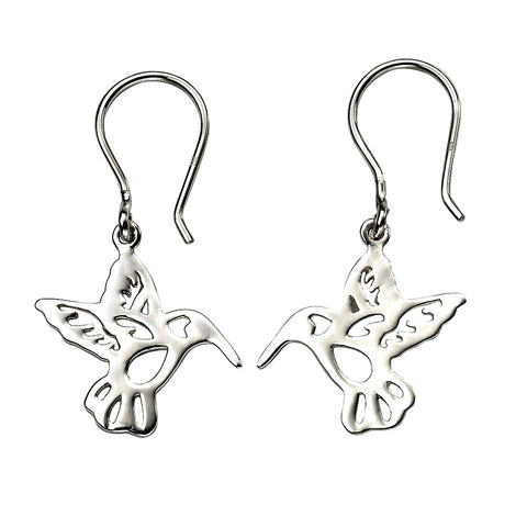 Hummingbird Drop Earrings from the Earrings collection at Argenteus Jewellery