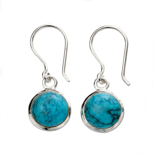 Circle Earrings - Blue Magnesite from the Earrings collection at Argenteus Jewellery