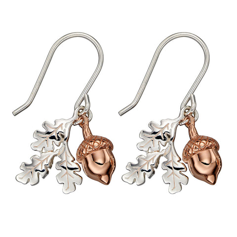 Oak Leaves & Acorn Earrings
