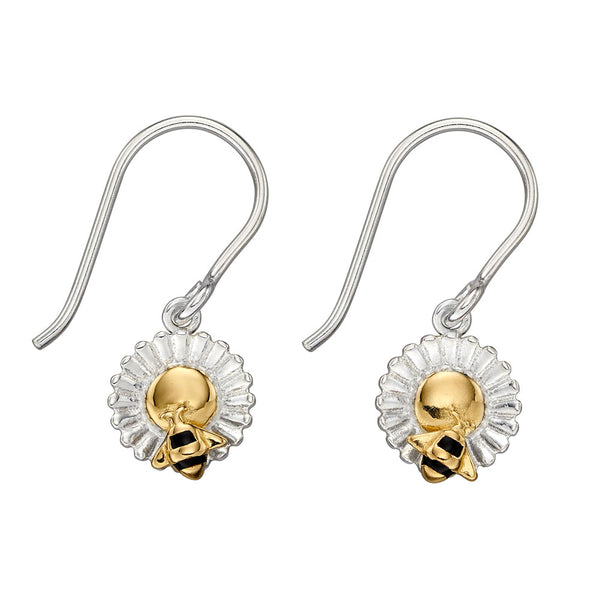 Bee and Flower Earrings from the Earrings collection at Argenteus Jewellery