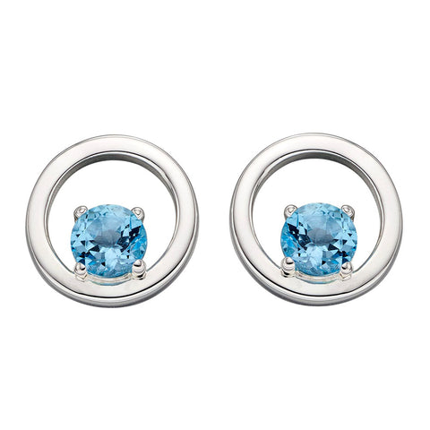 Links of Circles Topaz Earrings from the Earrings collection at Argenteus Jewellery