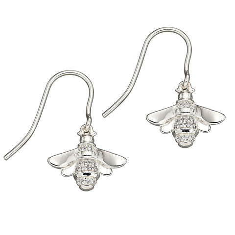 Bee Crystal Drop Earrings
