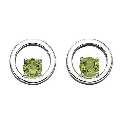 Links of Circles Peridot Earrings from the Earrings collection at Argenteus Jewellery