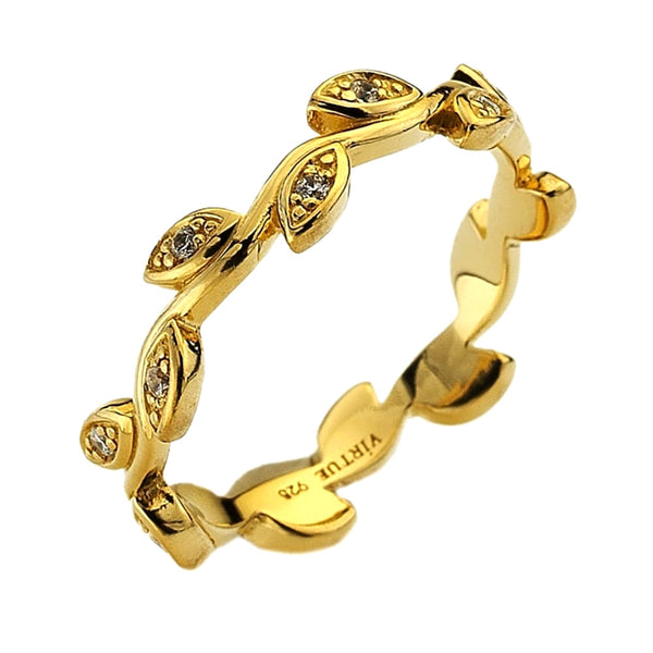 Virtue London Ring - Olive Gold Plate from the Rings collection at Argenteus Jewellery