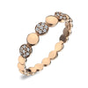 Virtue London Ring - Pebbles Rose Gold Plate from the Rings collection at Argenteus Jewellery
