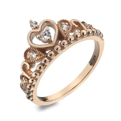 Virtue London Ring - Odette Crown Rose Gold Plate from the Rings collection at Argenteus Jewellery