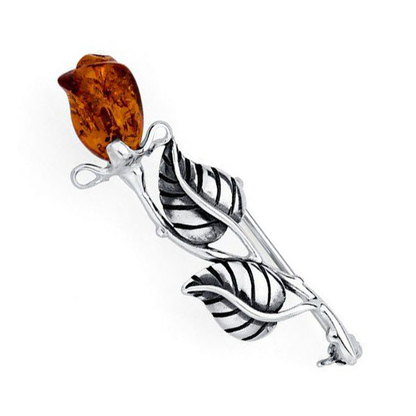 Amber Rose Brooch from the Brooches collection at Argenteus Jewellery