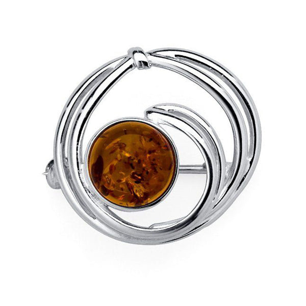 Amber Swirl Brooch from the Brooches collection at Argenteus Jewellery