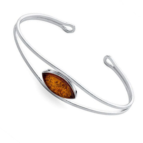 Amber Ellipse Torc Bangle