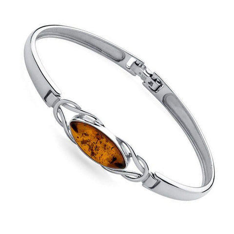Amber Ellipse Catch Bangle