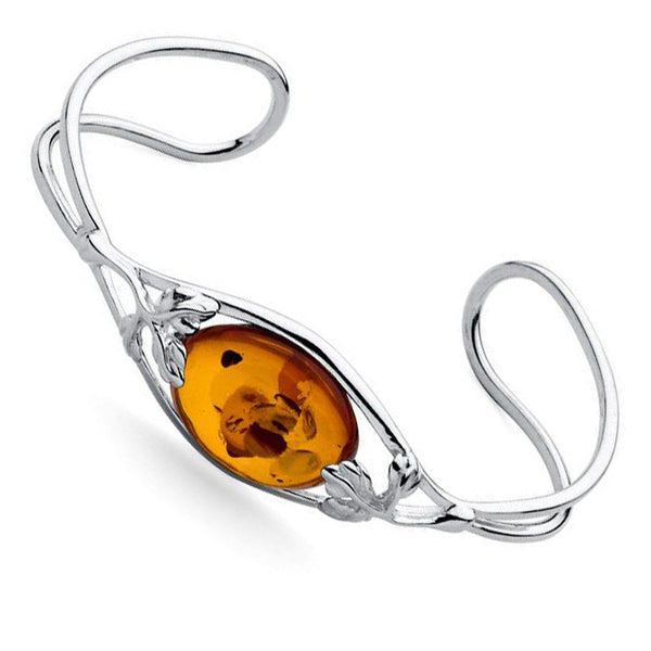Amber Oval Torc Bangle from the Bangles collection at Argenteus Jewellery