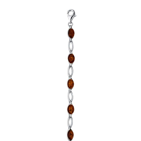 Amber Ovals Open Link BRacelet from the Bracelets collection at Argenteus Jewellery