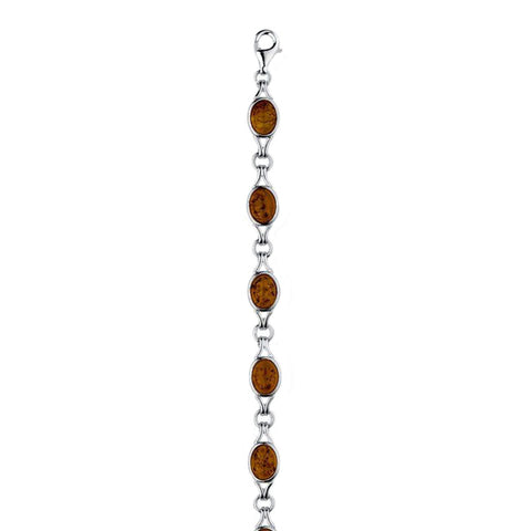 Amber Ovals Bracelet from the Bracelets collection at Argenteus Jewellery