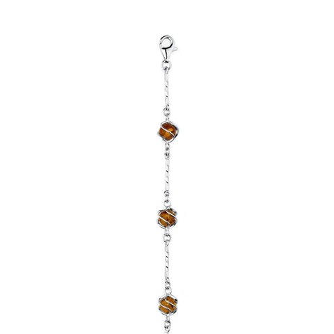 Amber Spheres Bracelet from the Bracelets collection at Argenteus Jewellery