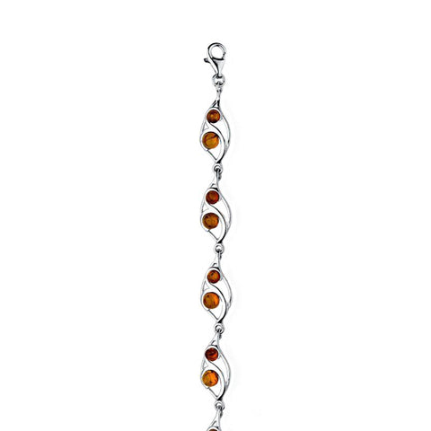 Amber Leaf Beads Bracelet from the Bracelets collection at Argenteus Jewellery