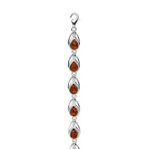 Amber Teardrop Bracelet from the Bracelets collection at Argenteus Jewellery