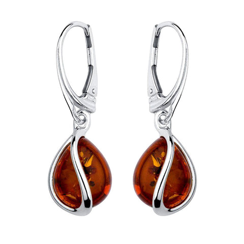 Amber Teardrop Earrings from the Earrings collection at Argenteus Jewellery
