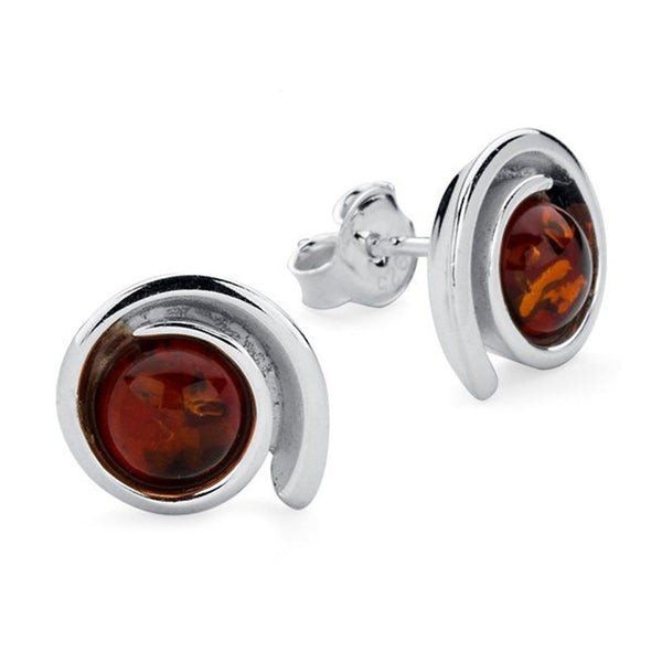 Amber Swirl Stud Earrings from the Earrings collection at Argenteus Jewellery