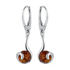 Amber Captured Circles Drop Earrings from the Earrings collection at Argenteus Jewellery