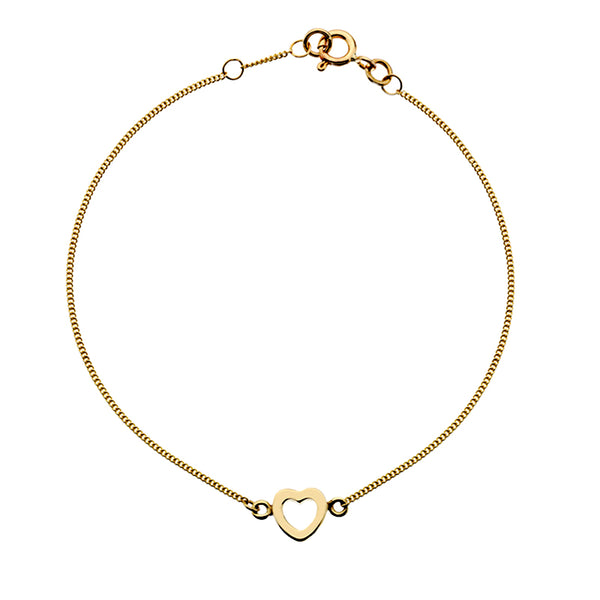 Gold Heart Bracelet from the Bracelets collection at Argenteus Jewellery