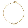 Gold Heart Outline Bracelet from the Bracelets collection at Argenteus Jewellery