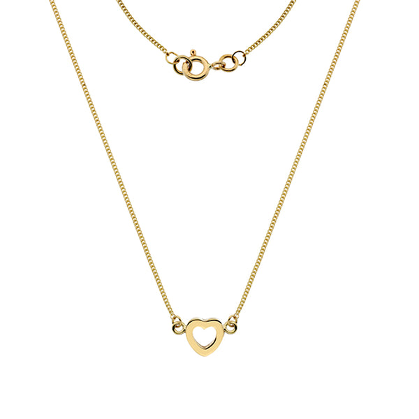 Gold Heart Necklace from the Necklaces collection at Argenteus Jewellery