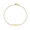 Gold Hammered Bar Bracelet from the Bracelets collection at Argenteus Jewellery