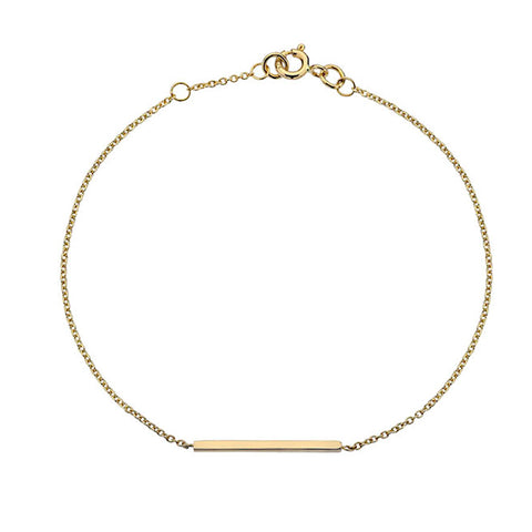 Gold Bar Bracelet from the Bracelets collection at Argenteus Jewellery