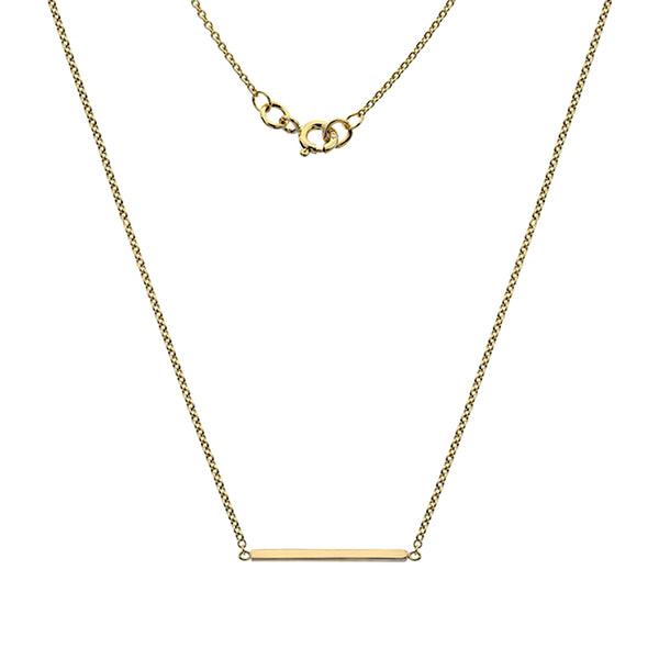 Gold Bar Necklace from the Necklaces collection at Argenteus Jewellery