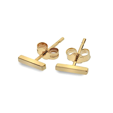 Gold Bar Stud Earrings from the Earrings collection at Argenteus Jewellery