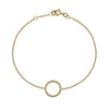 Gold Beaded Circle Bracelet from the Bracelets collection at Argenteus Jewellery