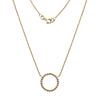 Gold Beaded Circle Necklace from the Necklaces collection at Argenteus Jewellery