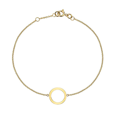 Gold Circle Bracelet from the Bracelets collection at Argenteus Jewellery
