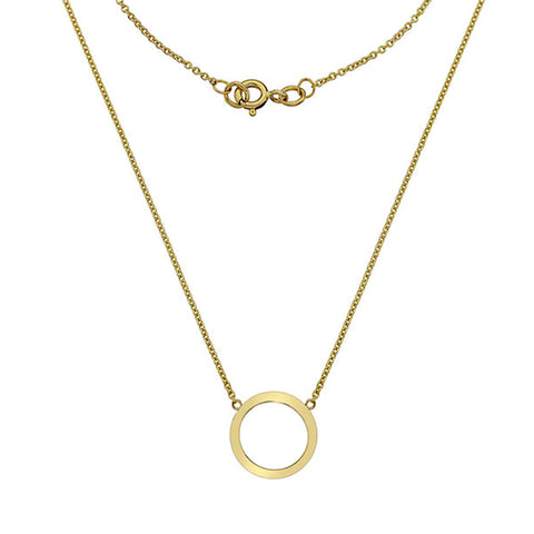 Gold Circle Necklace from the Necklaces collection at Argenteus Jewellery