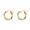 Gold Twist Hoop Earrings - 10mm from the Earrings collection at Argenteus Jewellery