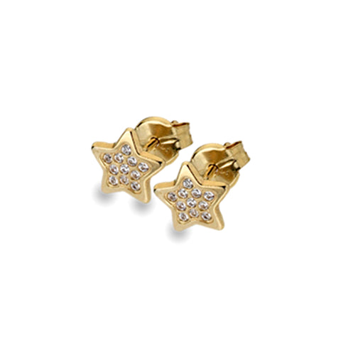 Gold Star Stud Earrings from the Earrings collection at Argenteus Jewellery