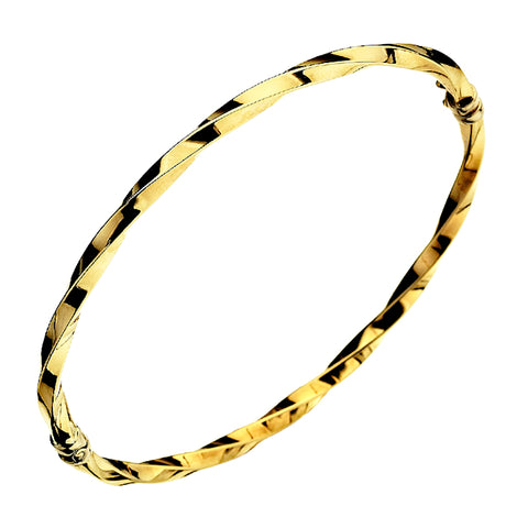Gold Twist Bangle from the Bangles collection at Argenteus Jewellery